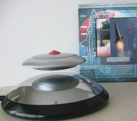 UFO model electromagnetically suspended